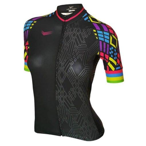 Camisa Ciclismo Feminina Polygons