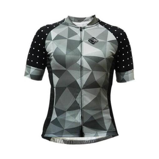 Camisa Ciclismo Feminina Cinza Poá