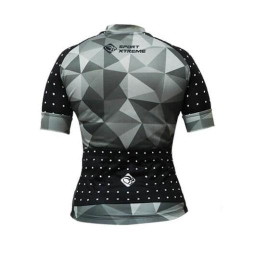 Camisa Ciclismo Feminina Cinza Poá_2