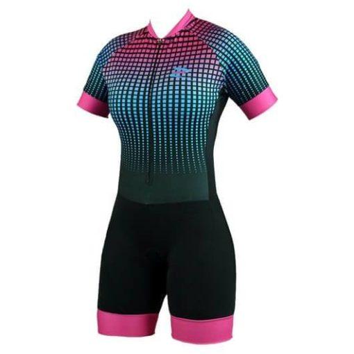 Macaquinho Ciclismo Feminino Squares - Znine 2018