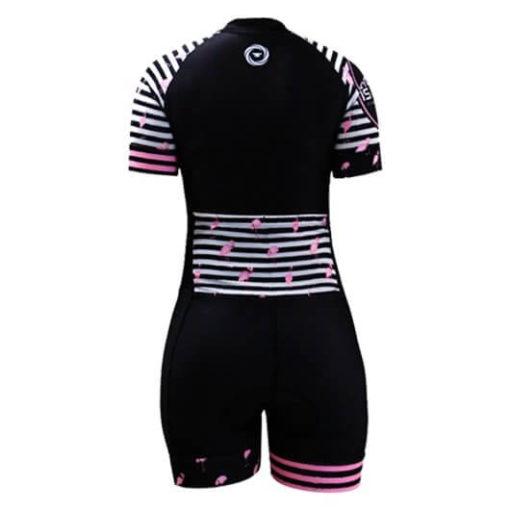Macaquinho Ciclismo Feminino Flamingo_2