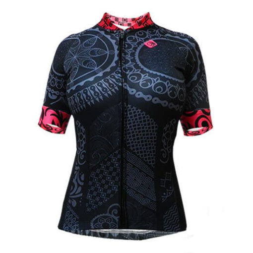 Camisa Ciclismo Feminina Tribo Rosa