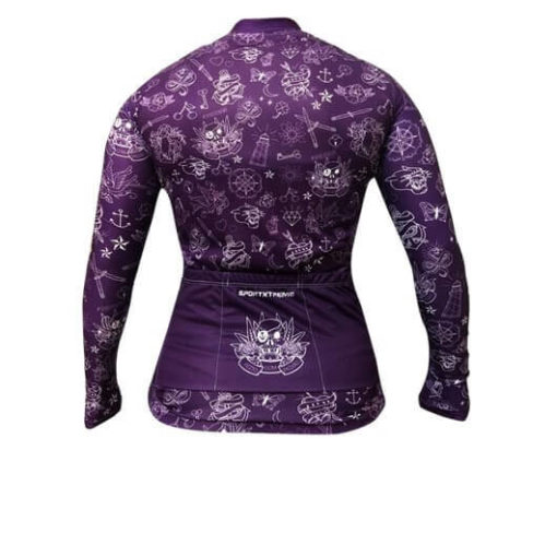 Camisa Ciclismo Feminina Tattoo Violeta_2