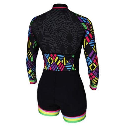 Macaquinho Ciclismo Feminino Polygons ML_2