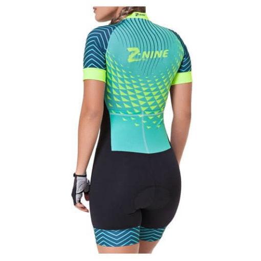 Macaquinho Ciclismo Feminino Aqua Waves2