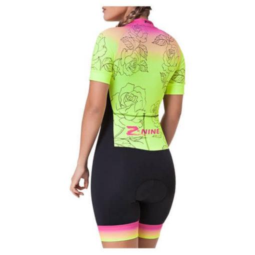 Macaquinho Ciclismo Feminino Yellow Rose2