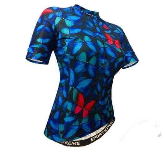 293f1e8ee Camisa Ciclismo Feminina Holambra Azul - SportXtreme ⋆ Moda Bike