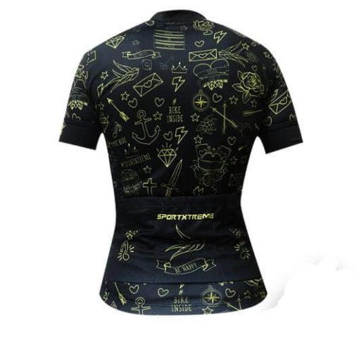 Camisa Ciclismo Feminina Tattoo Gold 2