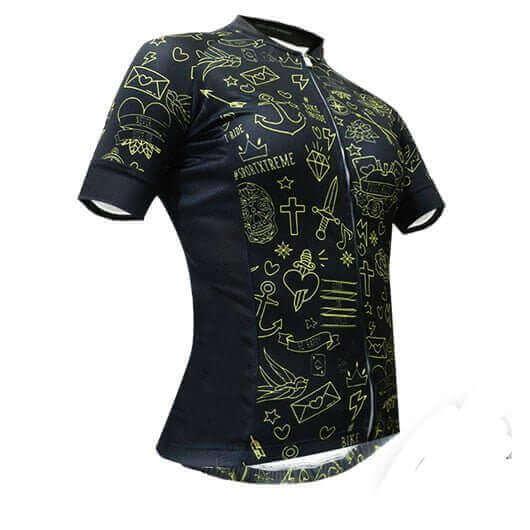 camisa-ciclismo-feminina-tattoo-gold