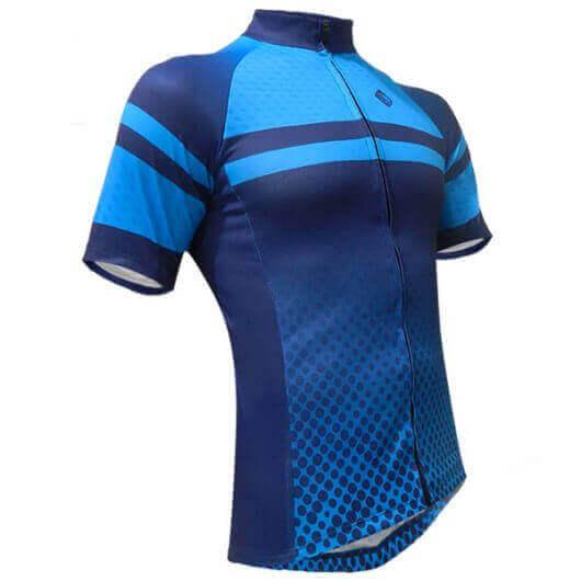 Camisa Ciclismo Spider Azul