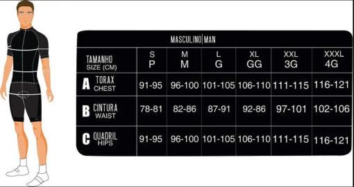tabela bermuda ciclismo masculina
