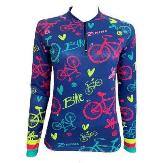 camisa-ciclismo-blue-bikes-manga-longa