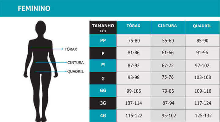 roupa de ciclismo feminina tabela