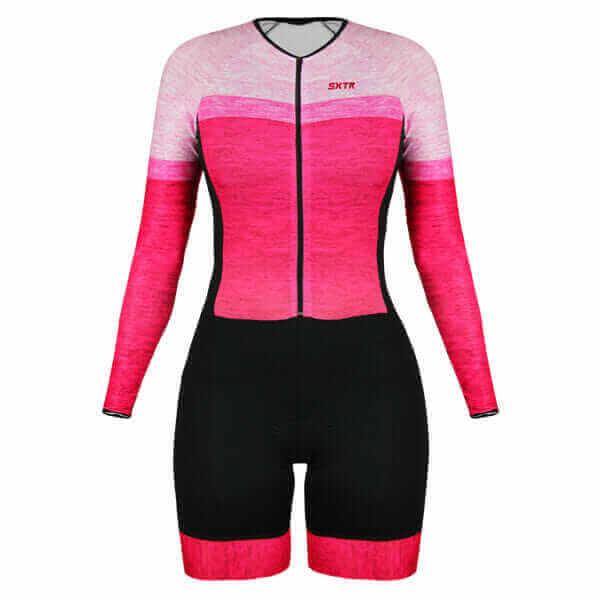 Macaquinho Ciclismo Mescla Rosa 2
