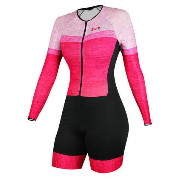 Macaquinho Ciclismo Mescla Rosa