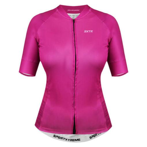 Camisa Ciclismo Feminina Fucsia 3