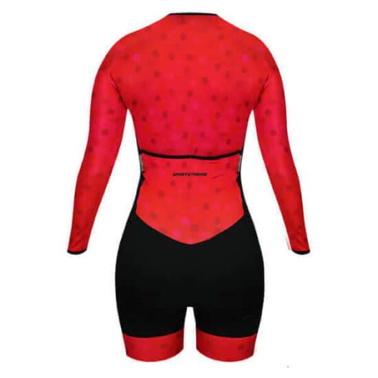 Macaquinho Ciclismo Feminino Scarlet 3