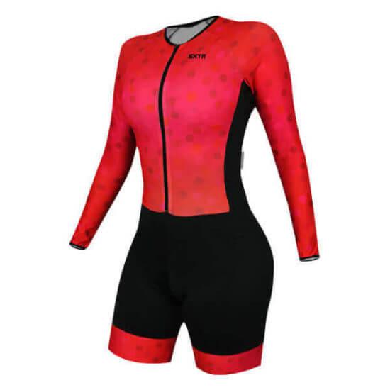 Macaquinho Ciclismo Feminino Scarlet