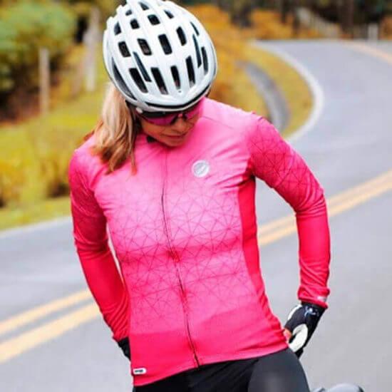 Camisa Ciclismo Feminina Weft 3