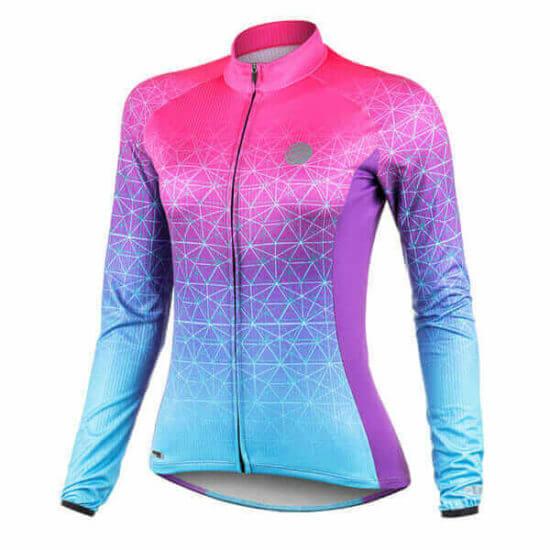 Camisa Ciclismo Weft Turquesa