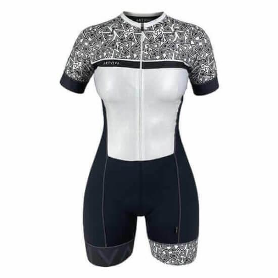 Macaquinho Ciclismo Feminino B&W