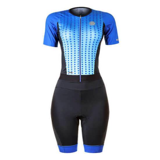 Macaquinho Ciclismo Feminino Spheric Azul