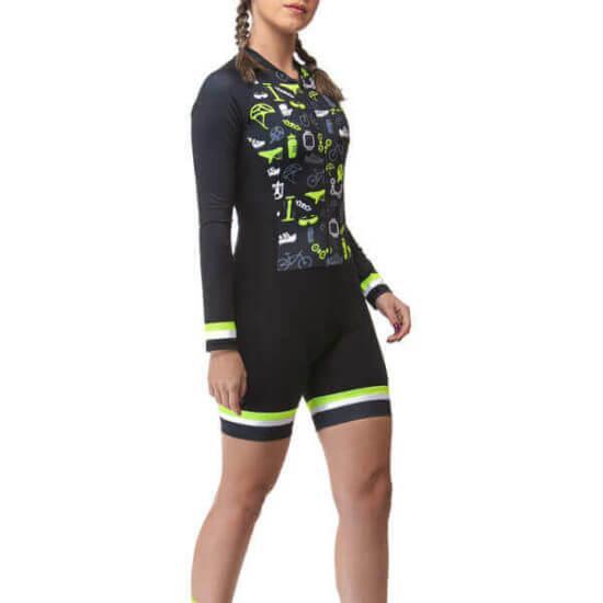 Macaquinho Ciclismo Feminino Cycle