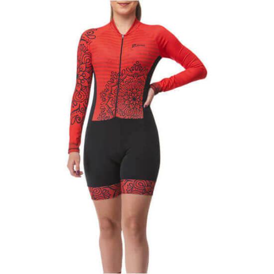 Macaquinho Ciclismo Mandala Vermelho