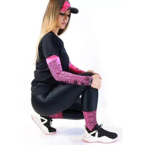 Manguito Ciclismo Biometria Rosa 2