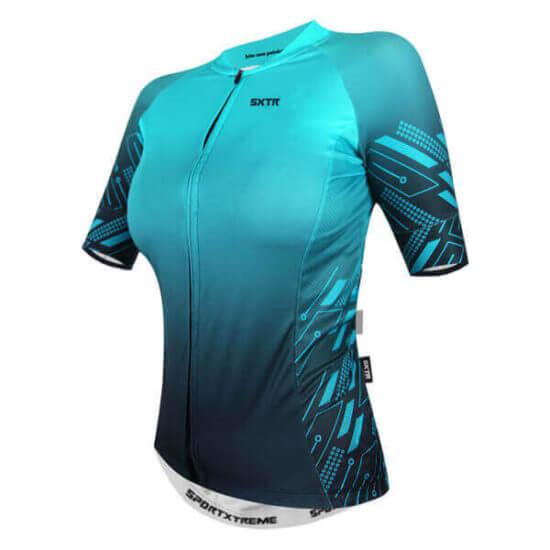 Camisa Ciclismo Feminina Move Azul