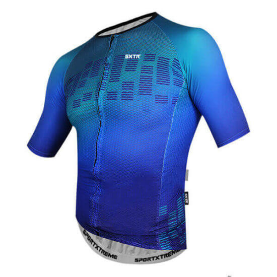 Camisa Ciclismo Escala Azul
