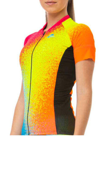 Camisa Ciclismo Feminina Colored