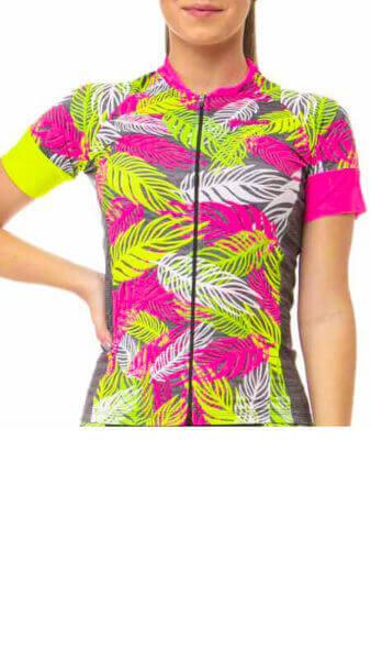 Camisa Ciclismo Feminina Leaves