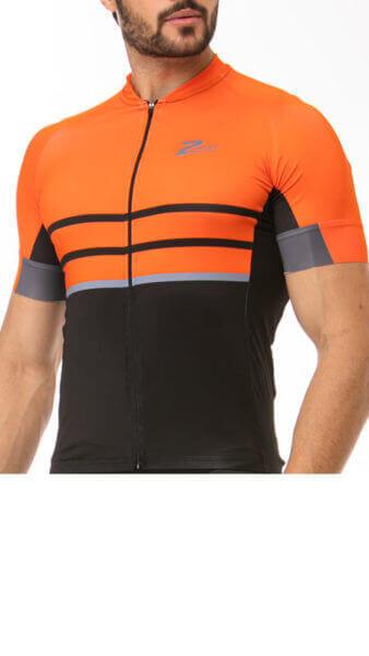 Camisa Ciclismo Orange Black