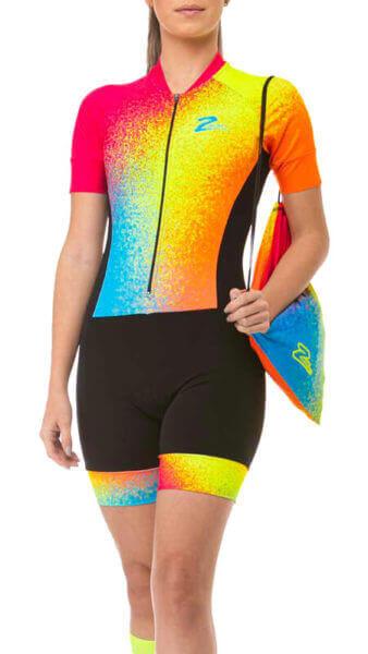 Macaquinho Ciclismo Feminino Colored