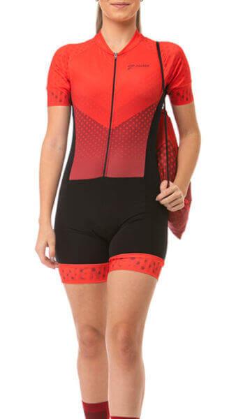 Macaquinho Ciclismo Feminino Rouge