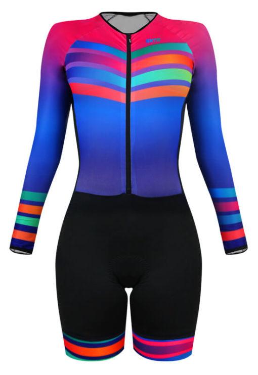 Macaquinho Ciclismo Feminino Rainbow 2