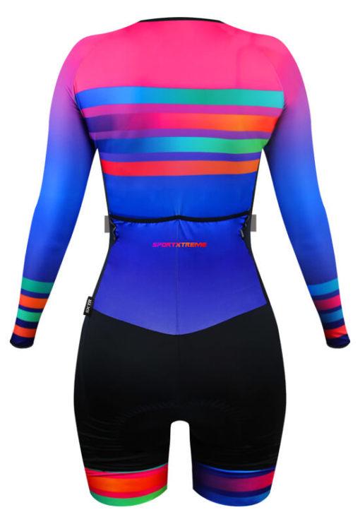 Macaquinho Ciclismo Feminino Rainbow 3