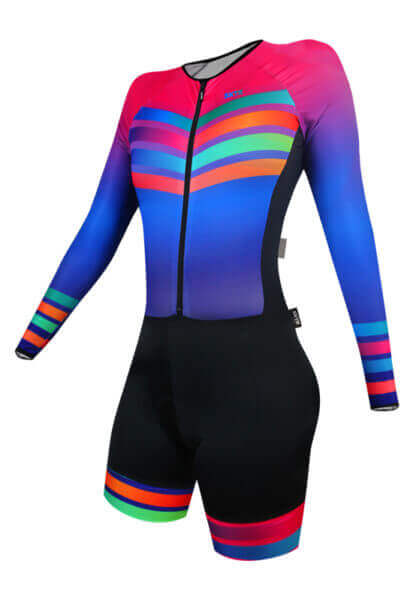 Macaquinho Ciclismo Feminino Rainbow