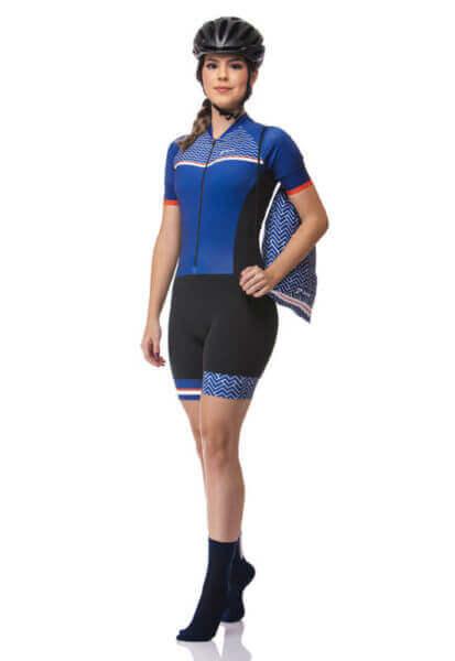 Macaquinho Ciclismo Feminino Bluewave