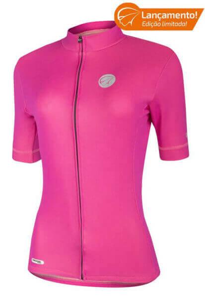 Camisa Ciclismo Feminina Rose