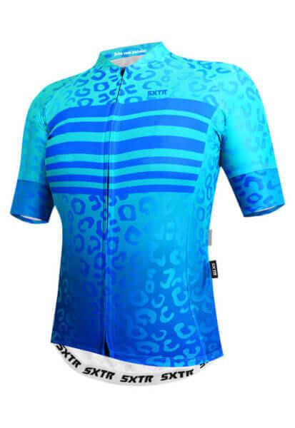 Camisa Ciclismo Feminina Animali_Azul