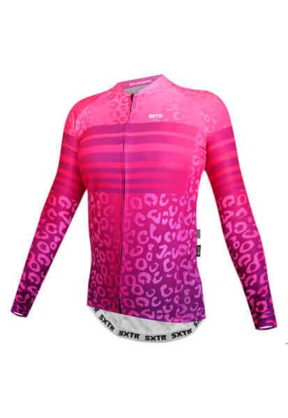 camisa-ciclismo-animali-rosa