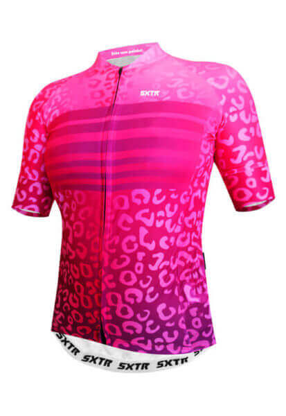 Camisa Ciclismo Feminina Animali_Rosa