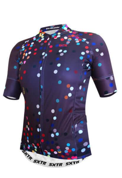 Camisa Ciclismo Feminina Confetti