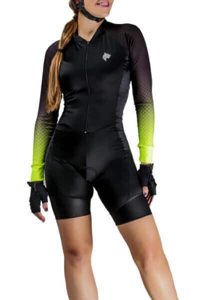 Macaquinho Ciclismo Feminino Lemon