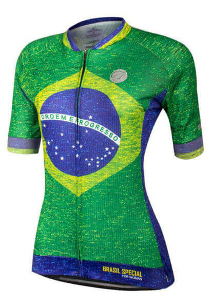 Camisa Ciclismo Feminina Brasil_Especial