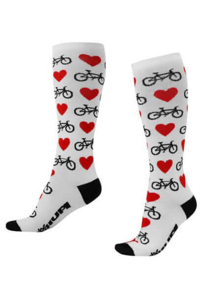 Meia Ciclismo Love Bike_Branco