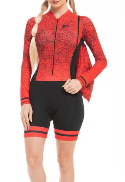 Macaquinho Ciclismo Red_Stripe