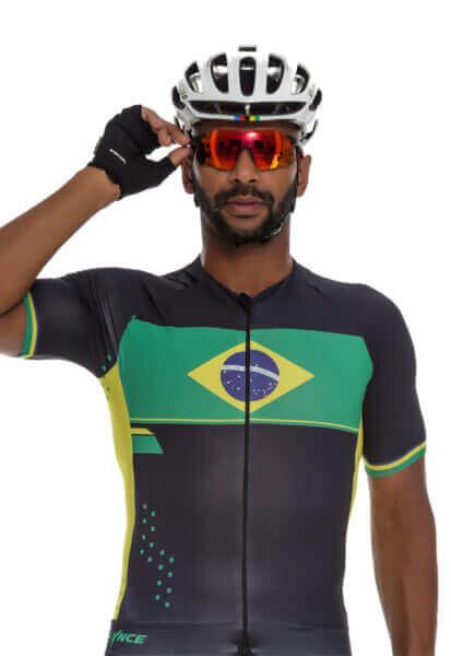 Camisa Masculino Ciclismo Brasil